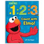 英文原版 芝麻街 学数数 纸板翻翻书 Sesame Street: 1 2 3 Count with Elmo!: A