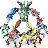 星钻积木积变战士拼装玩具恐龙变形机器人金刚礼物