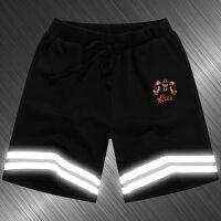 游戏周边PS4短裤反光运动休闲裤子青少年跑步运动裤