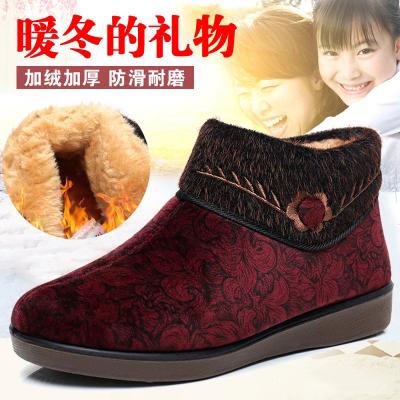 老北京布鞋女棉鞋冬加绒加厚中老年妈妈鞋平底防滑老人保暖大码奶奶鞋