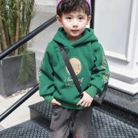 №【2019新款】冬天儿童穿的童装男童加绒卫衣儿童连帽加厚上衣小男孩潮衣