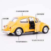 仿真大众甲壳虫合金模型摆件男孩礼物回力小汽车儿童玩具车