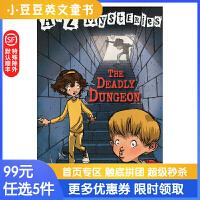 进口英文原版The Deadly Dunge A to Z 神秘案件 #4 恐怖的地牢【6-12岁】