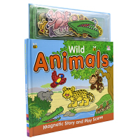 Magnetic Story and Play Scene Wild Animals 磁贴故事书3~6岁 野生动物 儿