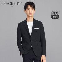 太平鸟男装 西装男外套秋季新款韩版潮流黑色商务休闲西服男便西