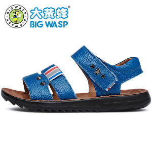 大黄蜂童鞋 夏季男童凉鞋儿童运动皮凉鞋小孩鞋子漏趾透气潮
