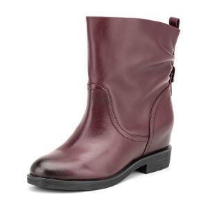 Fondberyl/菲伯丽尔 冬款牛皮内 皮里短靴女鞋FB54112757