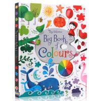 【满300-100】进口英文原版绘本 Usborne Big Book of Colours 纸板大开 宝宝识颜色 1-