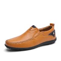 夏季潮豆豆鞋男士休闲鞋英伦青年牛皮懒人鞋黑色软面男鞋潮皮鞋 38 【皮鞋码】