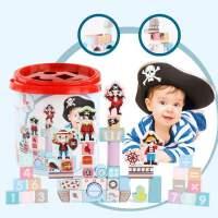 儿童积木木头益智拼装玩具婴儿宝宝大颗粒木质桶装1-2岁3男孩女孩