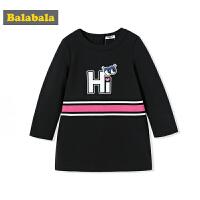 【1件3折】巴拉巴拉儿童公主裙长袖连衣裙女童秋装2017新款童装中大童裙子