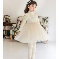 女童连衣裙冬高领儿童裙子洋气小女孩公主裙