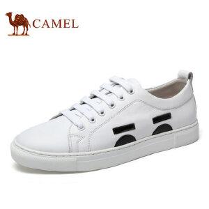 camel骆驼男鞋 年春季新品 男鞋时尚休闲板鞋圆头运动鞋子男