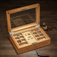 首饰盒首饰箱翡翠珠宝收藏收纳手镯盒带锁