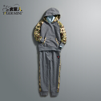 男童纯棉运动套装 儿童韩版迷彩两件套中大童春秋款小虎宝儿童装