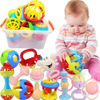 【2件5折】儿童婴幼儿益智软胶磨牙胶手抓摇铃床铃玩具0-6个月-1岁宝宝手摇铃玩具