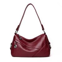 妈妈包包休闲百搭中年女包大容量斜挎包大气软皮单肩手提包手拎包