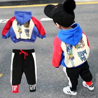 宝宝套装男童秋冬装卫衣两件套