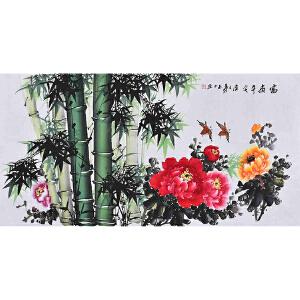 广西省美术家协会会员 李老师《富贵平安》HN12677