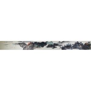 中国美术家协会北京分会会员 李尤 《云涌苍山》180*16cm