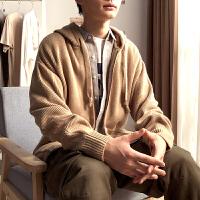 [1折�r59元]唐�{春季新款���_衫ins男毛衣外套�n版潮流��性��松毛�衣