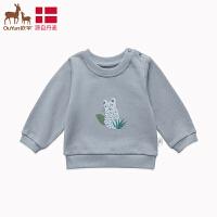 欧孕男童卫衣2019秋装新款婴儿宝宝长袖T恤时尚洋气中小童女潮