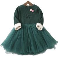 女童公主裙女孩秋装童装洋气裙子秋冬儿童长袖宝宝连衣裙