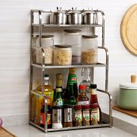 欧润哲 厨房不锈钢方管多层调味瓶架 浴室多功能实用置物架简约家居收纳层架储物架