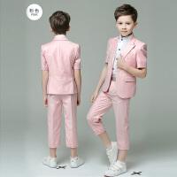 儿童西装短袖男童礼服夏儿童礼服男童演出服小主持人男童西装套装