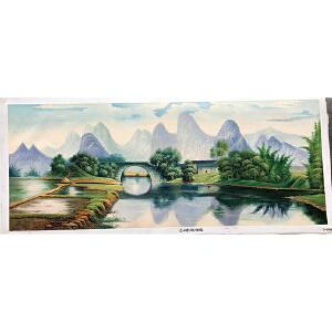 风景油画作品  70X180-049