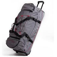 拉杆包旅行包拉杆双肩旅行包行李包拉杆包冰球护具包 黑色 36寸
