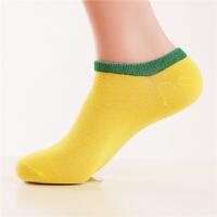 夏季短筒运动休闲袜子男士隐形浅口短袜薄款糖果色船袜