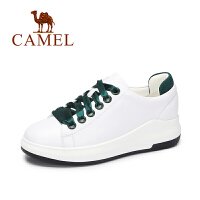 camel/骆驼女鞋  秋季新款休闲平底小白鞋 运动百搭单鞋丝带纯色板鞋女