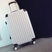 手拉箱拉箱大号行李箱男士拉杆箱学生旅行箱24行李箱男潮韩版个性青年密码箱皮箱子20寸黑色磨砂 白色 磨砂防刮