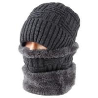 男士毛线帽秋冬季爸爸帽护耳老人针织帽包头帽