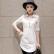 【支持礼品卡支付】夏装镂空蕾丝衬衣女中长款宽松上衣短袖白衬衫 17XY9026
