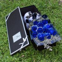 石家庄鲜花情人节速递同城红粉香槟玫瑰花束生日礼盒保定邢台送花 不含花瓶
