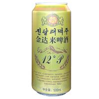 【包邮】汪泉 金达莱啤酒 原汁麦12°P 500ml 整箱12听