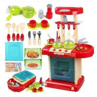 雄城115A 儿童过家家玩具 带灯光音乐做饭 百变 厨房玩具套装
