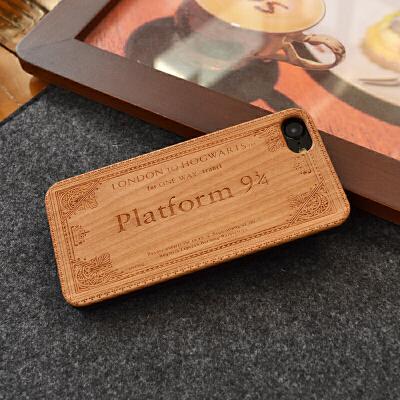 木质哈利波特站台票手机壳iphone X XS XR MAX 8 7 6s plus硬壳 半包【iPhone6/6S】哈利波特 樱桃木