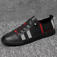 品牌男鞋夏季潮鞋欧洲站韩版百搭板鞋格子布休闲皮鞋透气布鞋大码46码