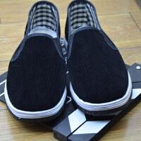 轮胎底老北京黑布鞋男女防滑布鞋男单鞋劳保低帮一脚蹬工作鞋