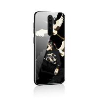 红米note8手机壳小米note8pro保护套por玻璃镜面redmi新品8pro潮牌个性创意网红男 红米note8pr