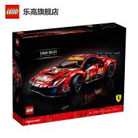 【����自�I】LEGO�犯叻e木�C械�MTechnic系列42125Ferrari 488 GTE Evo 51�法拉利��