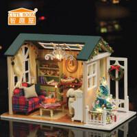 智趣屋diy小屋森蓝时光手工制作房子拼装建筑模型玩具生日礼物女