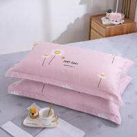 【每满100减50】纯棉枕套一对装48cm74全棉枕头套大号家用枕皮枕头皮单人