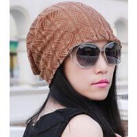 韩版时尚透气吸汗头巾帽 薄款耐看蕾丝女帽 光头孕妇帽头巾套头帽
