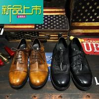 新品上市欧美英伦复古真皮正装结婚商务休闲手工装马丁鞋德比皮鞋男女冬季