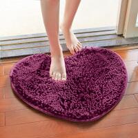 心形雪尼尔地毯卧室厨房卫生间浴室厕所门口吸水防滑地垫门垫脚垫