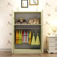 儿童小孩小型衣柜 木质质学生简易组装2门板式衣橱简约现代经济型 2门 组装